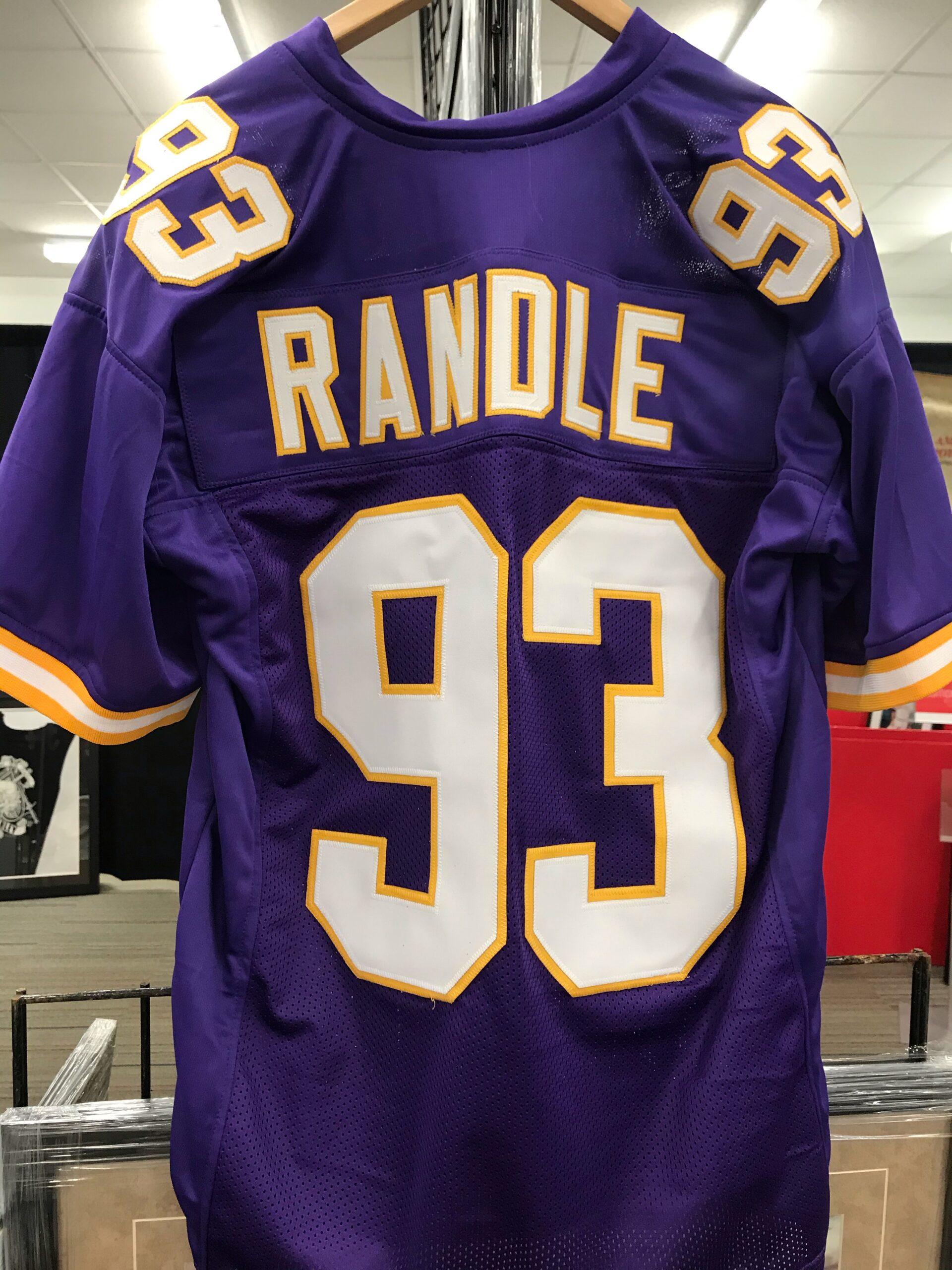 Minnesota Vikings #93 John Randle Custom Stitched Throwback Jersey ...