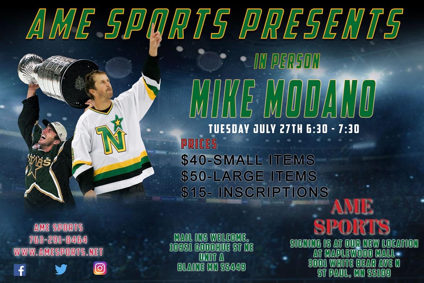 Mike Modano signing event at Maplewood Mall in St. Paul, MN